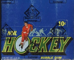 Topps 1971-72 hockey unopened box